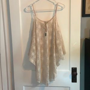 Lace bathing suit cover up